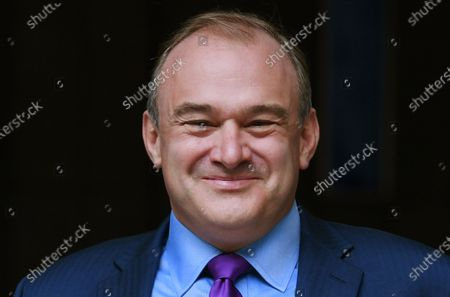 Sir Ed Davey reacts after being announced as the new leader of the Liberal Democratic Party, in London, Britain, 27 August 2020. Ed Davey is elected as the new leader of the Liberal Democrats, defeating Layla Moran in a two-person contest to succeed Jo Swinson, who resigned after losing her seat at the December general election.