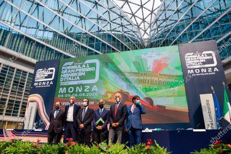 Editorial photo of F1 Italian Grand Prix press conference, Milan, Italy - 27 Aug 2020