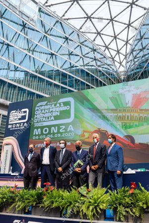 Editorial image of F1 Italian Grand Prix press conference, Milan, Italy - 27 Aug 2020