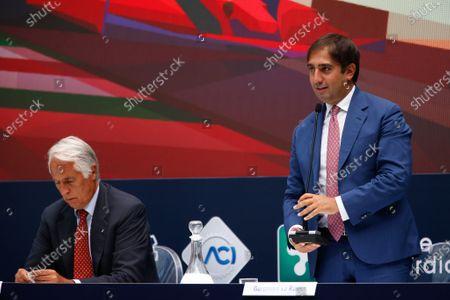 Geronimo La Russa, President of Automobile club Milano during F1 Grand Prix Heineken of Italy Press conference, Formula 1 Championship