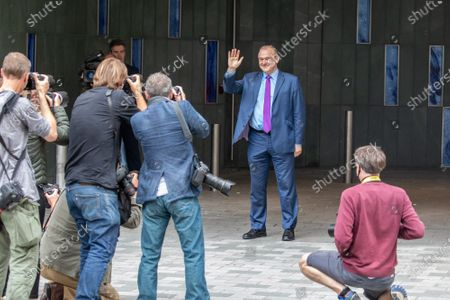 Ed Davey leaves the Conrad Hotel in Westminster after being elected as the new Lib Dem leader. Sir Ed Davey MP for Kingston and Surbiton in South West London has been elected to lead the Lib Dem Party. He beat rival candidate Layla Moran by more than 18,000 votes .