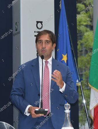 Stock Picture of Geronimo La Russa, President of Automobile Club Milano