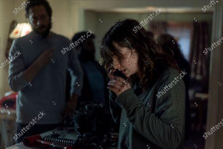 Ebon Moss-Bachrach as Chris McQueen and Ashleigh Cummings as Vic McQueen