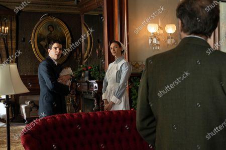 Stock Photo of Zachary Quinto as Charlie Manx, Abby Dubin as Nurse and Victor Slezak as Horace Haber