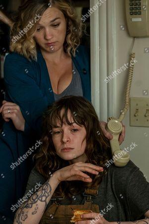 Virginia Kull as Linda McQueen and Ashleigh Cummings as Vic McQueen