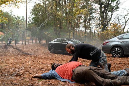Jonathan Langdon as Lou Carmody and Ebon Moss-Bachrach as Chris McQueen