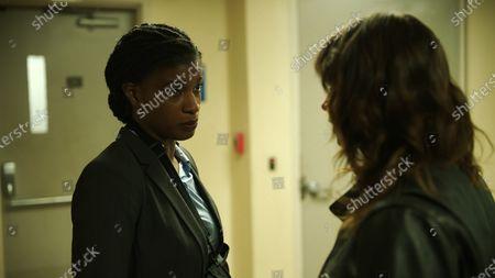Ashley Romans as Tabitha Hutter and Ashleigh Cummings as Vic McQueen