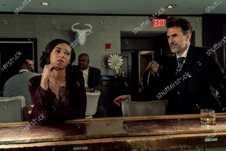 Stock Image of Jahkara J. Smith as Maggie Leigh and Paul Schneider as Jonathan Beckett