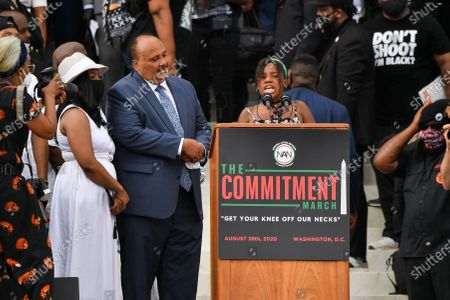 Martin Luther King III and Yolanda Renee King, granddaughter of Martin Luther King Jr.