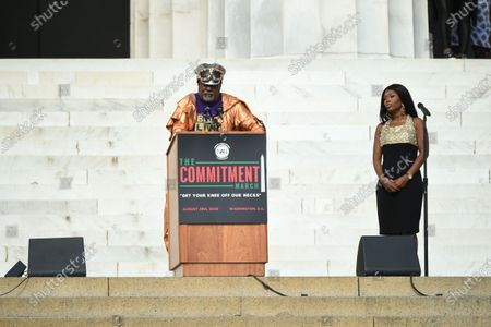 Stock Picture of George Clinton onstage before the 2020 March on Washington