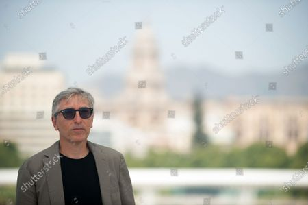 """Spanish director, David Trueba poses during the photocall of the film """"A este lado del mundo"""" at Muelle Uno amid coronavirus crisis.  The 23 edition of Spanish Malaga Film Festival is the first great cinematographic event in Spain after it was postponed due to coronavirus pandemic last month of March. The organization has introduced measures against the spread of coronavirus and to guarantee a secure event. The festival will be held from 21 to 30 August."""