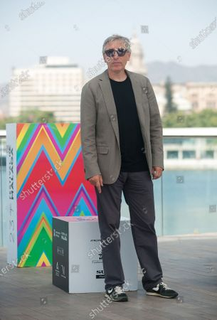 """Stock Photo of Spanish director, David Trueba poses during the photocall of the film """"A este lado del mundo"""" at Muelle Uno amid coronavirus crisis.  The 23 edition of Spanish Malaga Film Festival is the first great cinematographic event in Spain after it was postponed due to coronavirus pandemic last month of March. The organization has introduced measures against the spread of coronavirus and to guarantee a secure event. The festival will be held from 21 to 30 August."""