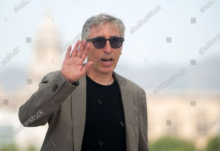"""Stock Image of Spanish director, David Trueba poses during the photocall of the film """"A este lado del mundo"""" at Muelle Uno amid coronavirus crisis.  The 23 edition of Spanish Malaga Film Festival is the first great cinematographic event in Spain after it was postponed due to coronavirus pandemic last month of March. The organization has introduced measures against the spread of coronavirus and to guarantee a secure event. The festival will be held from 21 to 30 August."""
