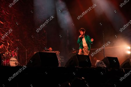 Editorial picture of Tom Grennan in concert, Newcastle, UK - 27 Aug 2020
