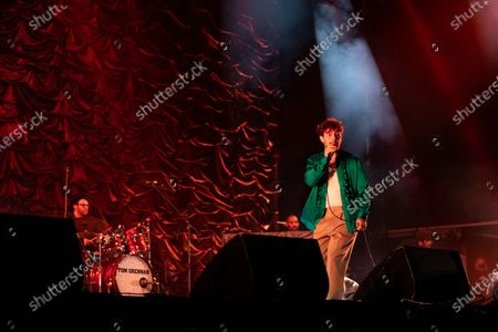 Stock Picture of Tom Grennan performs in a socially distanced concert