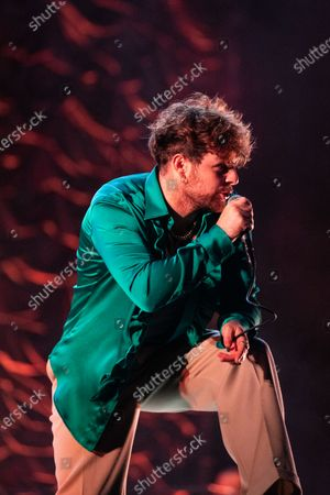 Editorial image of Tom Grennan in concert, Newcastle, UK - 27 Aug 2020