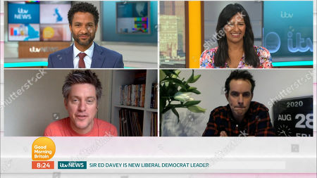 Editorial image of 'Good Morning Britain' TV show, London, UK - 28 Aug 2020