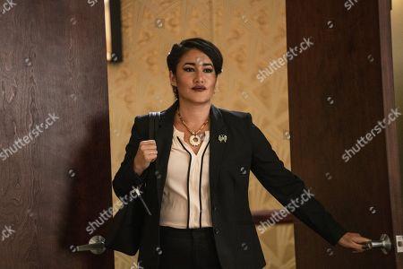 Q'orianka Kilcher as Angela Blue Thunder
