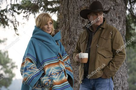 Kelly Reilly as Beth Dutton and Kevin Costner as John Dutton
