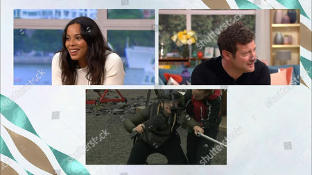 Rochelle Humes, Dermot O'Leary and Josie Gibson
