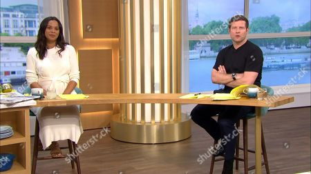 Rochelle Humes and Dermot O'Leary