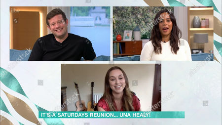Stock Picture of Dermot O'Leary, Rochelle Humes and Una Healey