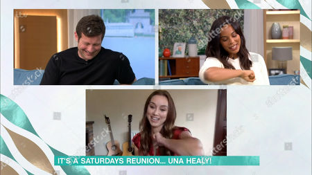Dermot O'Leary, Rochelle Humes and Una Healey