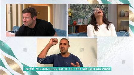 Stock Image of Dermot O'Leary, Rochelle Humes and Paddy McGuinness