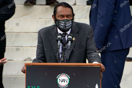 Rep. Al Green, D-Texas, speaks at the March on Washington, at the Lincoln Memorial in Washington