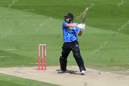 Luke Wright of Sussex batting during the Vitality T20 Blast South Group match between Sussex County Cricket Club and Surrey County Cricket Club at the 1st Central County Ground, Hove