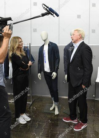 Stock Photo of Frauke Ludowig and Boris Becker