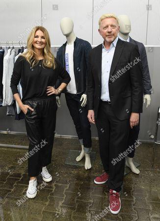 Frauke Ludowig and Boris Becker