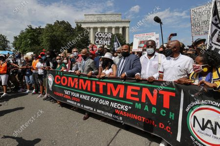 Editorial photo of Racial Injustice March on , Washington, United States - 28 Aug 2020