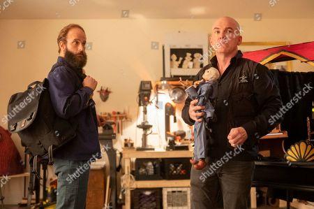 Stock Photo of Ben Sinclair as The Guy and James Godwin