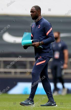 Ledley King the assistant coach of Tottenham Hotspur