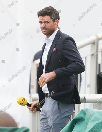 James Anderson working for the BBC as they cover live televised England cricket for the first time since 1999