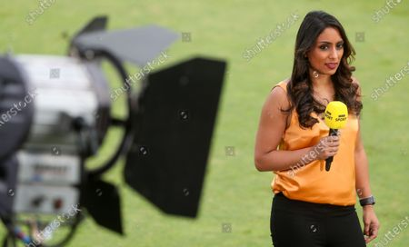 Lights, camera, action:  Isa Guha part of BBC's live England cricket coverage, the first since 1999