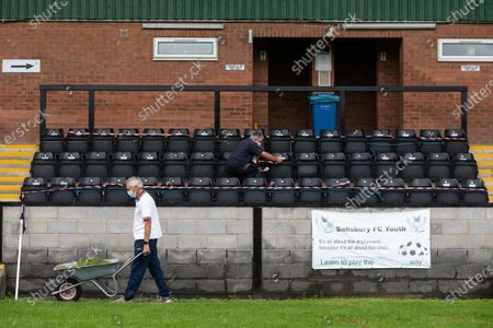 Editorial image of Return of crowds to sporting events, Salisbury, Wilts, UK - 28 Aug 2020