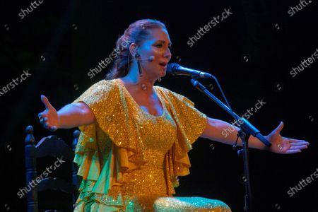 Spanish flamenco singer Marina Heredia performs on stage at La Cana Flamenca Festival in Almunecar, Granada, Spain, 28 August 2020.