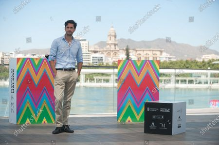 Spanish actor, Juan Diego Botto posing during the festival. The 23rd edition of Spanish Malaga Film Festival is the first great cinematographic event in Spain and was postponed due to the coronavirus pandemic. Measures to prevent the spread of coronavirus and to guarantee a secure event were introduced as the festival is held from 21st to 30th August.