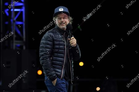 """Stock Image of Comedian David Spade performs at """"Comedy In Your Car"""" at the Ventura County Fairgrounds, Friday, Aug. 28. 2020, in Ventura, Calif"""