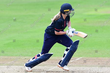 Stock Picture of Natalie Brown  of Thunder during the Rachael Heyhoe Flint Trophy match between Loughborough Lightning and Lancashire Thunder at Trent Bridge, Nottingham