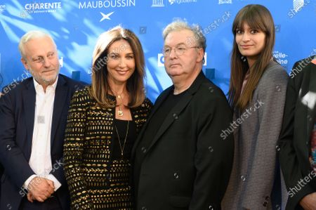 Stock Picture of Yves Bigot, Elsa Zylberstein, Dominique Besnehard,  Clara Luciani. Benoit Delepine and Gustave Kervern La Vice Presidente Elsa Zylberstein, Claude Barras Evelyne Brochu, Yves Bigot, Manele Labidi, Clara Luciani, Marc Zinga  avec  Dominique Besnehard and Marie France Briere