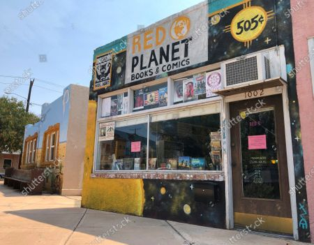 Stock Photo of This, image shows Red Planet Books & Comics in Albuquerque, N.M. Lee Francis IV, the shop owner and an independent comics publisher, helped find up-and-coming Native artists to join Marvel Comics' anthology effort