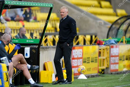 Livingston manager Gary Holt in the technical area during the Scottish Premiership match between Livingston and Ross County at Tony Macaroni Arena, Livingston