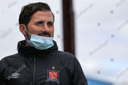 Drogheda United vs Derry City. Dundalk assistant coach Giuseppe Rossi
