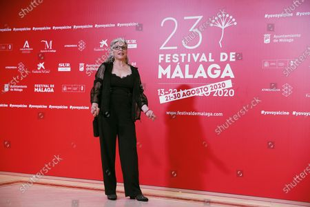 Kiti Manver attends the closing ceremony of the 23rd edition of Malaga Film Festival in Malaga, Spain, 29 August 2020.