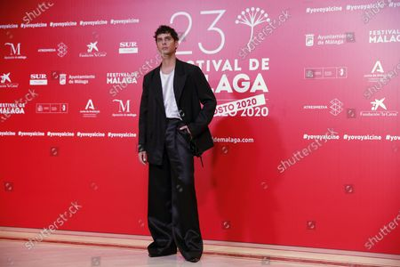 Stock Image of Eduardo Casanova attends the closing ceremony of the 23rd edition of Malaga Film Festival in Malaga, Spain, 29 August 2020.
