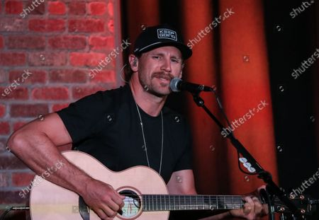 Stock Image of Singer & songwriter Chase Rice performs during at The Listening Room Cafe on August 28, 2020 in Nashville, Tennessee.