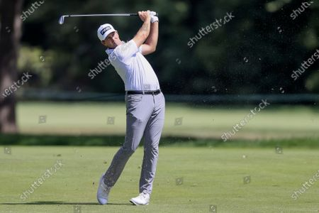 Michael Thompson of the US on the twelfth hole during the third round of the 2020 BMW Championship held at the Olympia Fields Country Club in Olympia Fields, Illinois, USA, 29 August 2020.